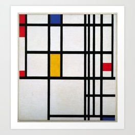 Piet Mondrian Composition in Red, Blue,and Yellow Art Print
