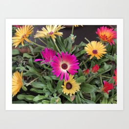 Happy flowers Art Print