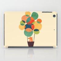 hot air balloon iPad Cases featuring Whimsical Hot Air Balloon by Picomodi