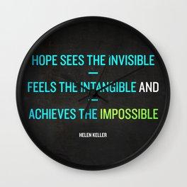 Hope - Helen Keller Wall Clock