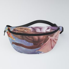 Laser Eyes Space Cat Riding Dragon Fanny Pack
