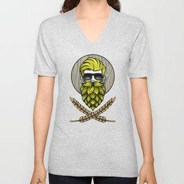 Green Hops Beard - Beer Style - Hops Fashion Unisex V-Neck
