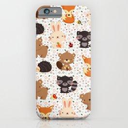 Woodland Nursery Pattern iPhone Case
