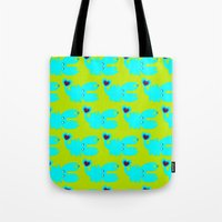 crab Tote Bags featuring crab by V.M.
