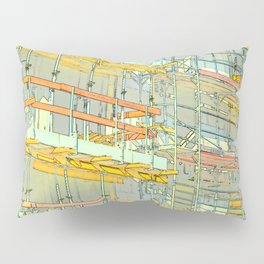 Construction site scaffolding in Berlin Pillow Sham