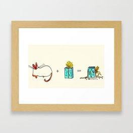 Christmas Math Framed Art Print