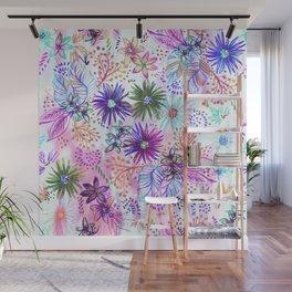 Eden Floral Multi White Wall Mural