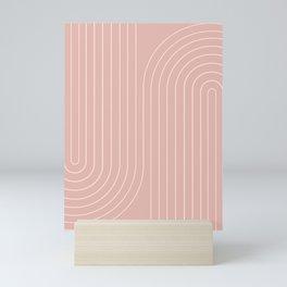 Minimal Line Curvature X Mini Art Print