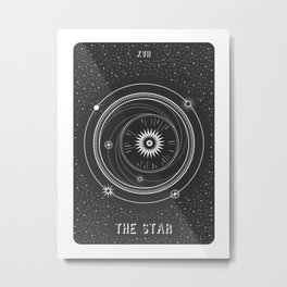 Minimal Tarot  Deck The Star Metal Print
