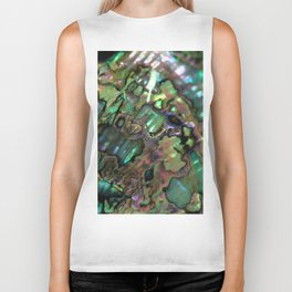 Oil Slick Abalone Mother Of Pearl Biker Tank