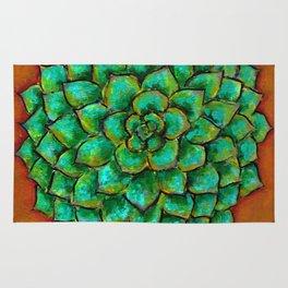 Succulent Mandala Rug
