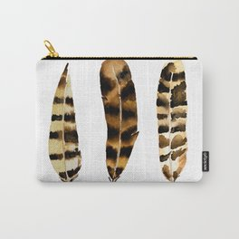 Rustic Feather Carry-All Pouch