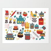 kitchen Art Prints featuring Kitchen by Kathrin Legg