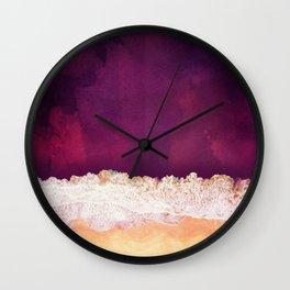 Maroon Ocean Wall Clock