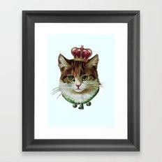 Queen Kitty Framed Art Print