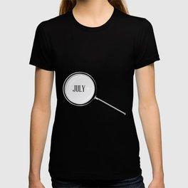 July Magnifying Glass T-shirt