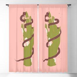 Run It - Illustration Blackout Curtain