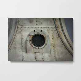 Lighthouse Porthole Window Port Washington Wisconsin Breakwater Light Lake Michigan Metal Print