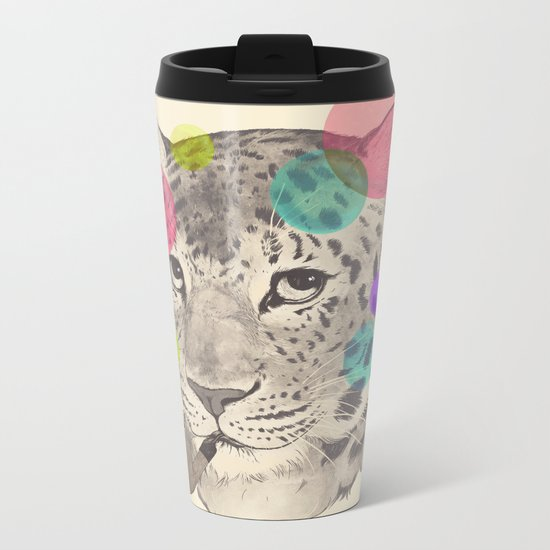 leopard changes his spots Metal Travel Mug