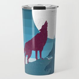 Wolf in the woods Travel Mug