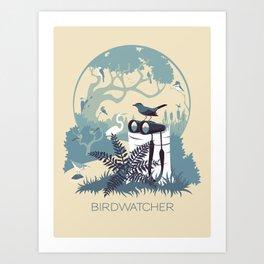 Birdwatcher (blues) Art Print