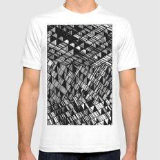 Moving Panes Black & White MEDIUM Mens Fitted Tee White