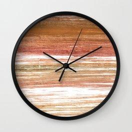Coconut abstract watercolor Wall Clock