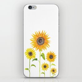 Sunflowers Watercolor Painting iPhone Skin