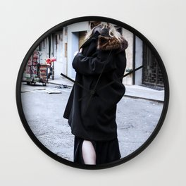 Vintage Grunge in Chinatown Wall Clock