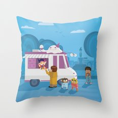 The Nick Yorkers in August Throw Pillow