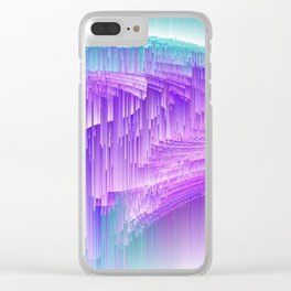 Flame - Pixel sort purple Clear iPhone Case