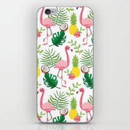 Tropical Flamingo iPhone Skin
