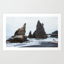 Sea Stacks at Rialto Beach Art Print
