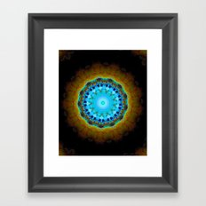 Lovely Healing Mandalas in Brilliant Colors: Black, Brown, Navy, Copper, and Light Blue Framed Art Print