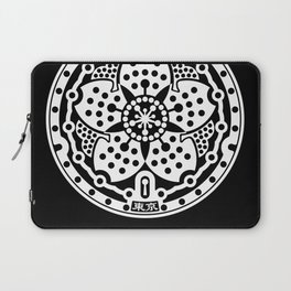 Tokyo Sakura Manhole Cover Laptop Sleeve