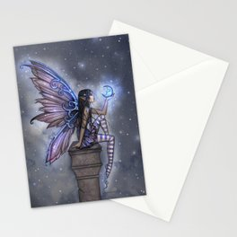 Little Blue Moon Fairy Art by Molly Harrison Stationery Cards