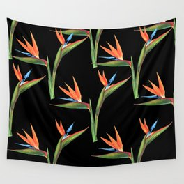 Bird of paradise flowers patten Wall Tapestry