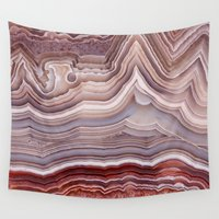 agate Wall Tapestries featuring Agate Crystal by Santo Sagese