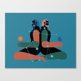 Géminis Canvas Print