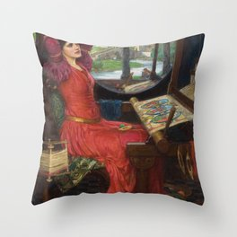 I am Half-Sick Of Shadows Lady of Shalott By John William Waterhouse Throw Pillow