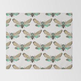 Summer Cicada – Mint & Tan Palette Throw Blanket