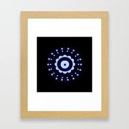 Evil Eye Flower Burst Framed Art Print