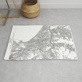 Lima Map White Rug
