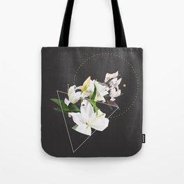 Tropical Flowers & Geometry II Tote Bag