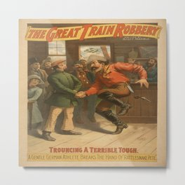 Vintage poster - The Great Train Robbery Metal Print