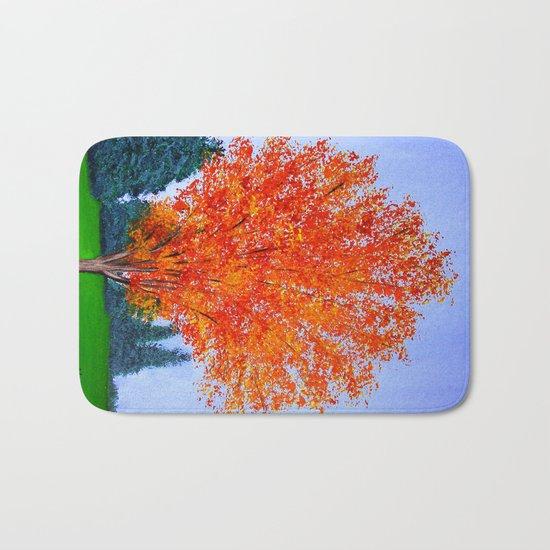 Fall tree in ND Bath Mat