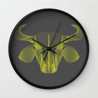 buffalo Wall Clocks featuring Buffalo by GeeJayTee