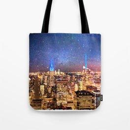 Night Shine - New York Tote Bag