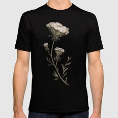 Queen Anne's Lace Black Mens Fitted Tee LARGE