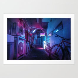 Tokyo Nights / Blue Monday / Liam Wong Art Print